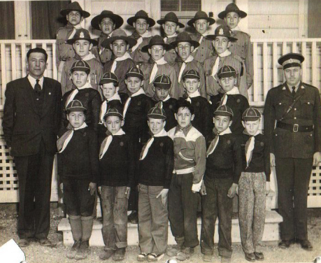 Charles Bernard and Eskasoni Boy Scouts