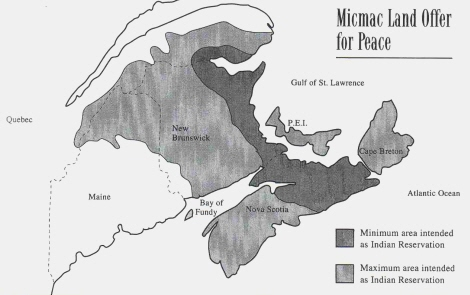 Indian Reservations Maine Map.Mi Kmaq Territory Map
